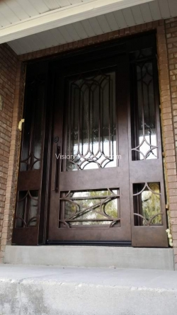 Visionmakers Steel Door with Sidelights 98
