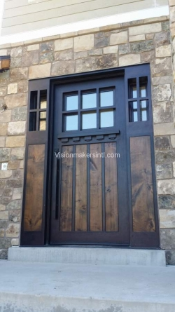 Visionmakers Steel Door with Sidelights 127
