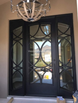 Visionmakers Steel Door with Sidelights 145