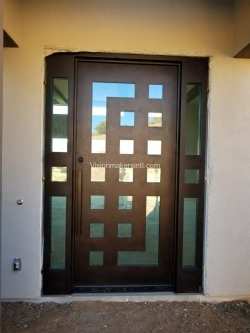 Visionmakers Steel Door with Sidelights 107