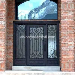 Visionmakers Steel Door with Sidelights 2